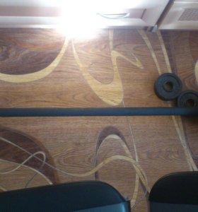 Скамья для пресса (3 режима)+ штанга