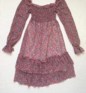 Шифоновое платье 42-44