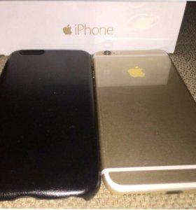 Новый Айфон 6 цвет Gold память на 64 gb +гарантийн