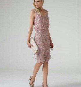 Новое вечернее розовое платье XS S