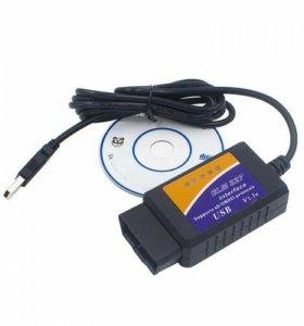 Диагностический адаптер ELM327 USB OBD II 2