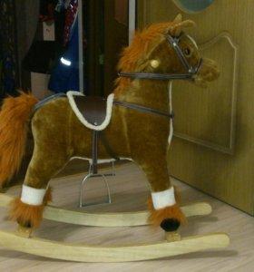 Музыкальная Качалка лошадь