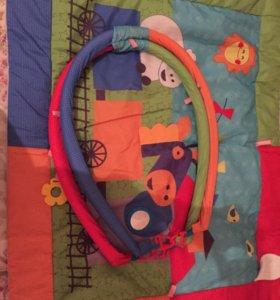 Развивающий коврик плюс игрушки