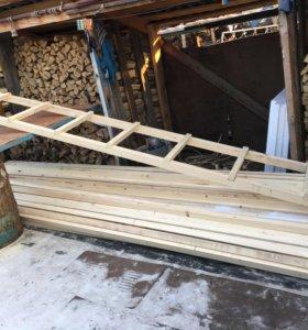 Лестница деревянная длиной 4 м