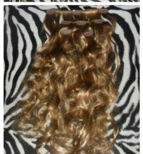 Искусственные термо- волосы на заколках