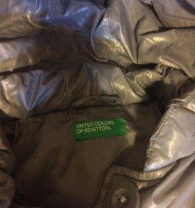 Пуховик  - пальто демисезонное,Benetton