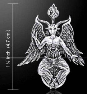 Кулон Бафомет серебро 925
