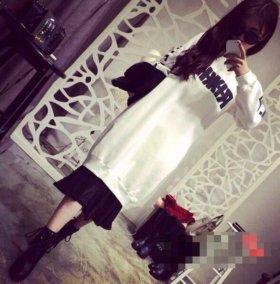 Флисовое платье-свитер