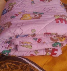 Комплект в детскую кроватку + держатель балдахина