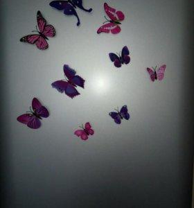 Бабочки (декор)новые,в упаковке