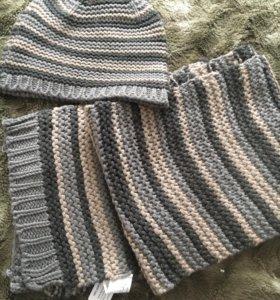 Комплект шапка + шарф на 1 год
