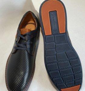 Туфли  летние кожа