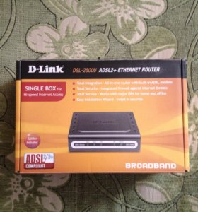 Модем DSL-2500U. D-link ADSL2+ internet router