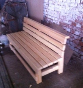 Изготовим  столы лавки из дерева.