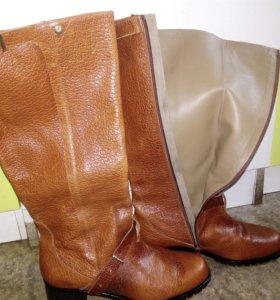Сапоги новые кожаные
