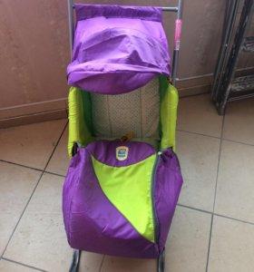 Санки детские с колёсиками