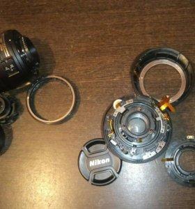 Объектив Nikon d3100 18-55 kit на запчасти