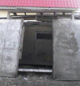 Ворота гаражные с рамкой
