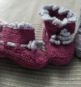 Пинетки, вязаная обувь для детей