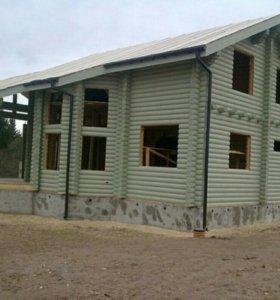 Срубы деревянных домов.
