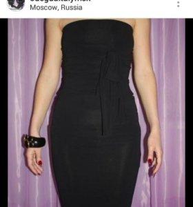 Платье новое италия PEG вискоза черное стрейч