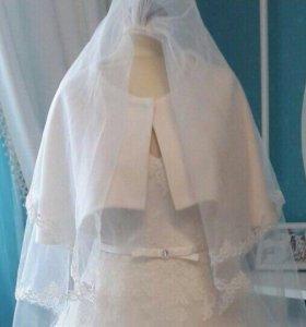 Легкая накидка на свадебное платье