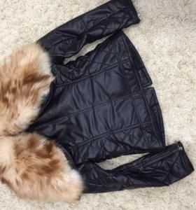 Куртка с мехом лисы