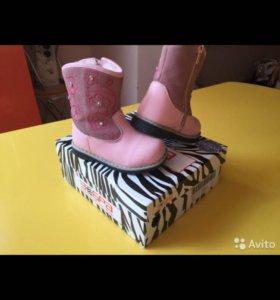 Зимние сапоги для девочки Zebra