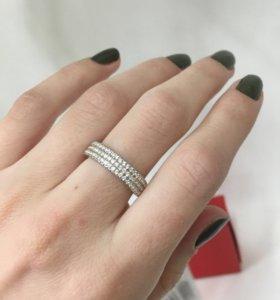 Кольцо плоское серебро 925 пробы