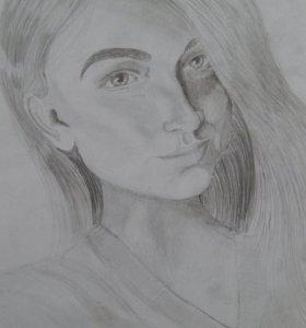 Портреты карандашом на заках
