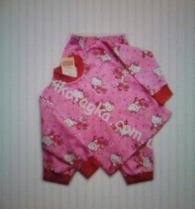 Теплая пижама для девочки новая