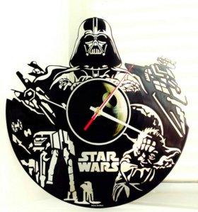 Настенные часы Звездные войны из пластинки