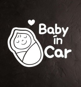 Наклейка на авто baby on board in car