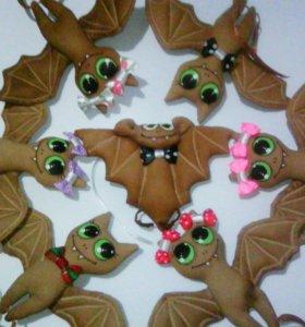 Кофейные игрушки, летучие мышки