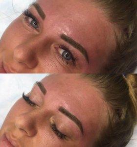 Перманентный макияж бровей Татуаж