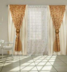 Готовые шторы+огромная тюль