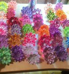 Резинки для волос детские ручной работы