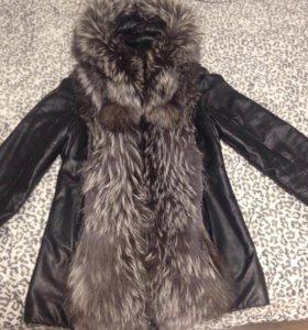 Курточка-жилетка из натуральной кожи р.46-48