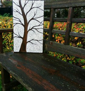 Картина Дерево в технике стринг-арт
