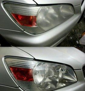 Полировка кузова фар покрытие керамикой авто