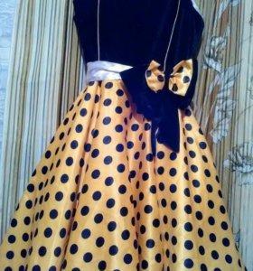 Платье для танцев и  праздников+перчатки