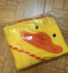 Новое полотенце с плюшевым утёнком