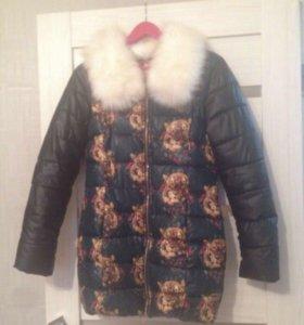 Куртка на синтепоне удлинённая