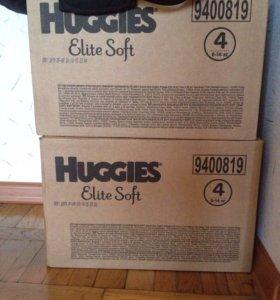 Подгузники huggies elite soft 4 8 - 14 кг