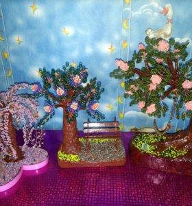 Деревья из бисера!)