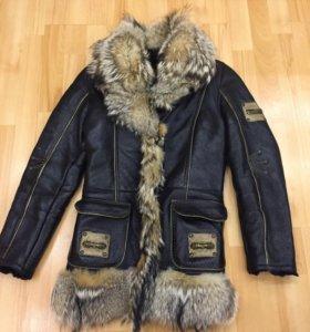 Кожаная куртка теплая