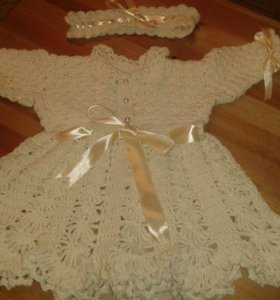 Платье для малышки ручная работа крючком
