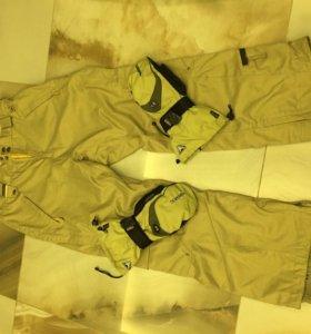 Сноубордический костюм. Штаны, перчатки, куртка.