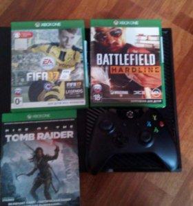 Xbox one 1ТБ+игры+геймпад+HDMI кабель