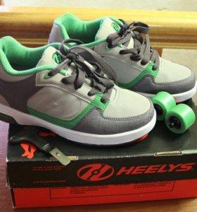 Роликовые кроссовки Heelys р.38 (24 см) новые